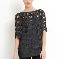 ideeli | LA CITE Shredded Metallic Sweater