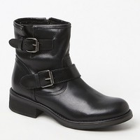 Steve Madden Damiann Buckled Leather Upper Ankle Boots - Womens Boots