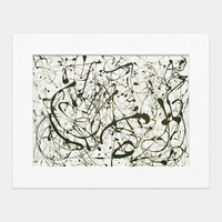 Pollock: Number 14: Gray Matted Print
