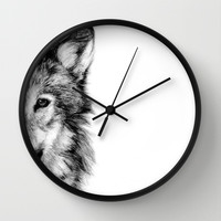 WOLF Wall Clock by Joelle Poulos