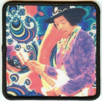 Jimi Hendrix Iron-On Patch Guitar Solo