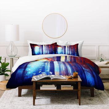 Viviana Gonzalez Dreams in blue Duvet Cover
