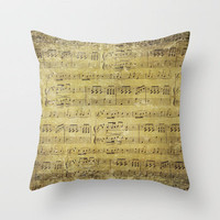 Music is what feelings sound like Throw Pillow by Sylvia Cook Photography   Society6
