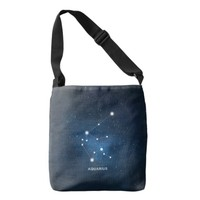 Aquarius Zodiac Design Tote Bag