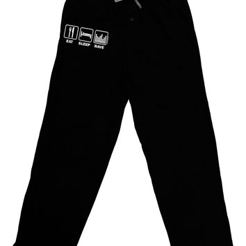 Eat Sleep Rave Adult Lounge Pants by TooLoud
