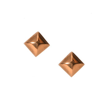 Bullet Stud Earrings, Assorted Metals