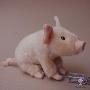 Pig Stuffed Animal Plush Toy 8""
