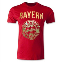 Bayern Munich FC Big Crest T-Shirt (Red/Gold)