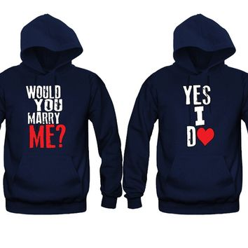 Will You Marry Me - Yes I Do Unisex Couple Matching Hoodies