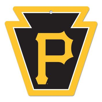 "PITTSBURGH PIRATES ""P"" ICONIC WOOD SIGN 11""x17"" BRAND NEW  SHIPPING WINCRAFT"