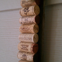 Upcycled wine cork message board on barrel staves from Makers Mark Bourbon