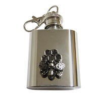 Bee and Bee Hive 1 Oz. Stainless Steel Key Chain Flask