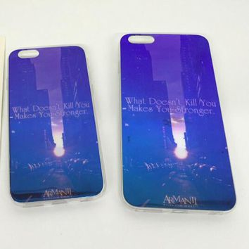 New York Colorful Reflection Rubber Case for iPhone 5s 6 6s Case iPhone 6 6s Plus Gift-76-170928