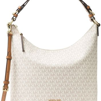 MICHAEL Michael Kors Lupita Signature Large Hobo Shoulder Bag, Vanilla