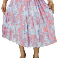 BOHO GYPSY HIPPIE CHIC PLEATED MIDI SKIRT A-LINE FLARE BOHEMIAN WOMENS SKIRTS