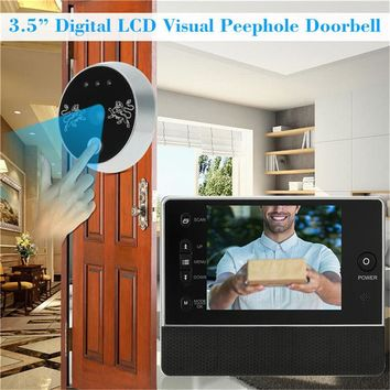 KINCO Smart Doorbell 3.5 inch TFT LCD Screen 0.3MP Camera Light Sensor Auto Snapshot Wake Up Smart Home Automation for Phones