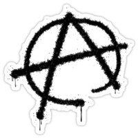 Anarchy symbol sticker