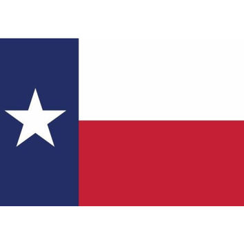 Texas American Flag bumper sticker decal white gloss premium vinyl