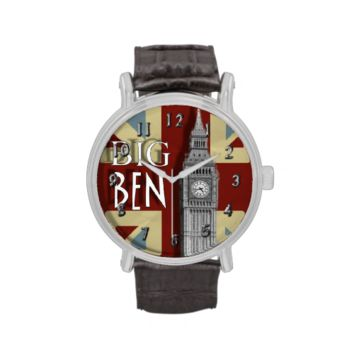 Big Ben London Union Jack Theme Wrist Watches