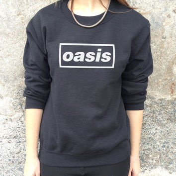 OASIS Band Jumper Top Sweater Music Rock Tour Tumblr Classic Uk Indie Indy Retro Sweatshirt
