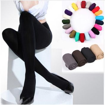 Women Sexy Pantyhose Women's Spring/Autumn/Winter Nylon Stockings Footed Thick Opaque Stockings Seamless Pantyhose Hot 2018