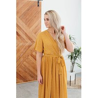 This I Know Dress- Mustard