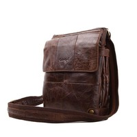 100% Genuine Cow Leather Man Crossbody Shoulder Bag Men Messenger Bags