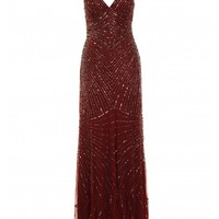 Burgundy sequin maxi dress - Dresses - Clothing