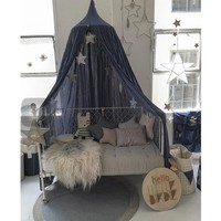 Royal Blue Canopy Bed Netting Cotton Mosquito Bedding Net Baby Kids Reading Play Tents