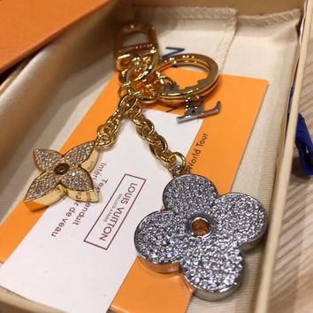 Louis Vuitton Lv Blooming Flower Strass Bag Charm And Key Holder M64265 - Best Online Sale