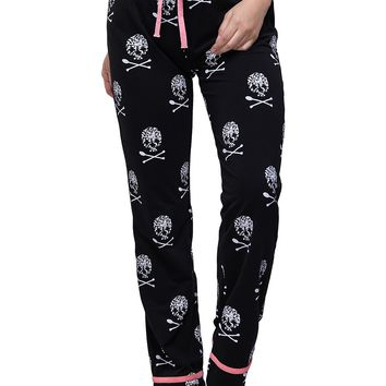2017 Top Fashion Women Skull Loose Floral Harem Pants Bottoms Sweatpants High Waist Female Pants Women Summer Wide Leg Trousers