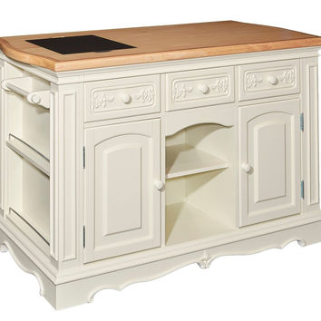 Powell White Pennfield Kitchen Island Cabinet Storage Furniture D1030D16WI