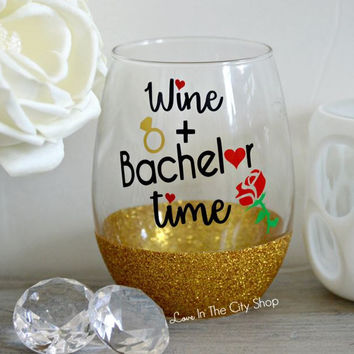 Bachelor / Bachelorette Wine Glass