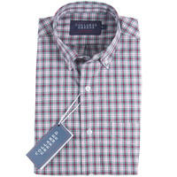 The Byrd Button Down Shirt Red/Teal