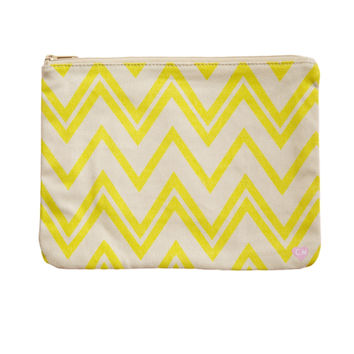 CAMERON HAWAII Large Clutch - Zig Zag Yellow