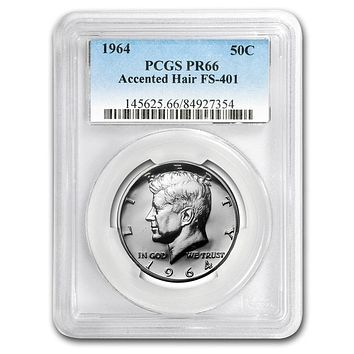 1964 Kennedy Half Dollar PR-66 PCGS (Accented Hair)
