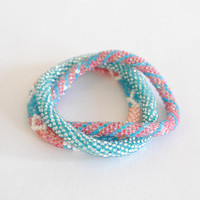 The Impeccable Pig - Red Peach Blue Lily & Laura Bracelets