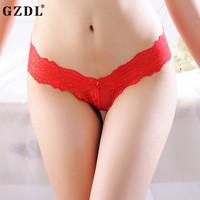 GZDL Hot Ladies Underwear Briefs Low-Rise Solid Lot Bow Lace Ruffles Breathable Hollow Lacy Sexy Women panties Lingerie NY288