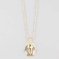 King Ice 14K Gold Egyptian Pharaoh Cz Necklace Gold One Size For Men 26394271301