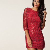 Sleeve Lace Sequin Dress, Elise Ryan