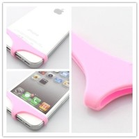Big Dragonfly Cute Sexy Underwear Series Premium Soft Silicone Home Return Key Button Protection for Apple iPhone 5 and iPhone 4 4s Retail Package Pink