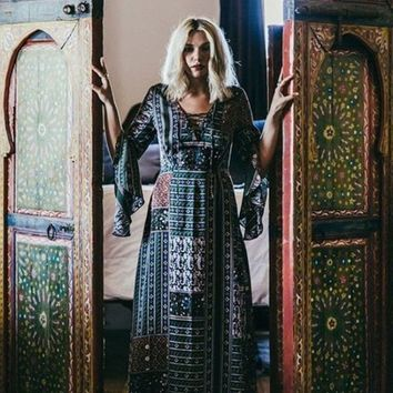 Lulumari Bohemian Fantasy Maxi Dress - FINAL SALE!