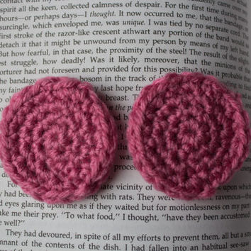 Dark Pink Custom Lobe Warmers (Plug Mittens) for Stretched Ears.