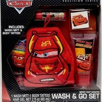Disney Pixar Cars Wash and Go Bath Set Precision Series 5 pieces New in package