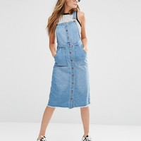 New Look Denim Snow Midi Pinny