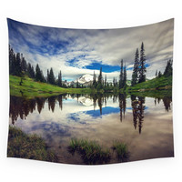 Society6 Mountain Reflections Mt Rainier Washingt Wall Tapestry