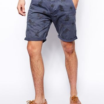 Jack & Jones Short With Nautical Print