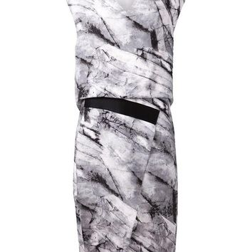 DCCKIN3 Helmut Lang print dress