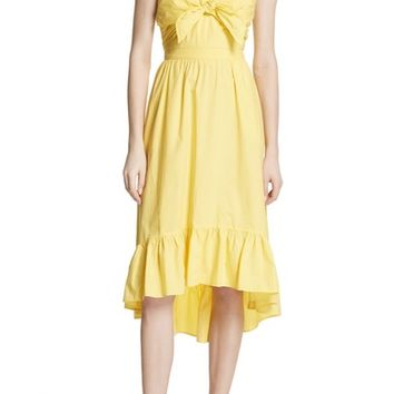 Joie Clorinda Tie Front Cutout Cotton Dress | Nordstrom