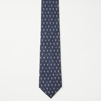 Rag & Bone - Palm Tree Tie, Navy Size 1